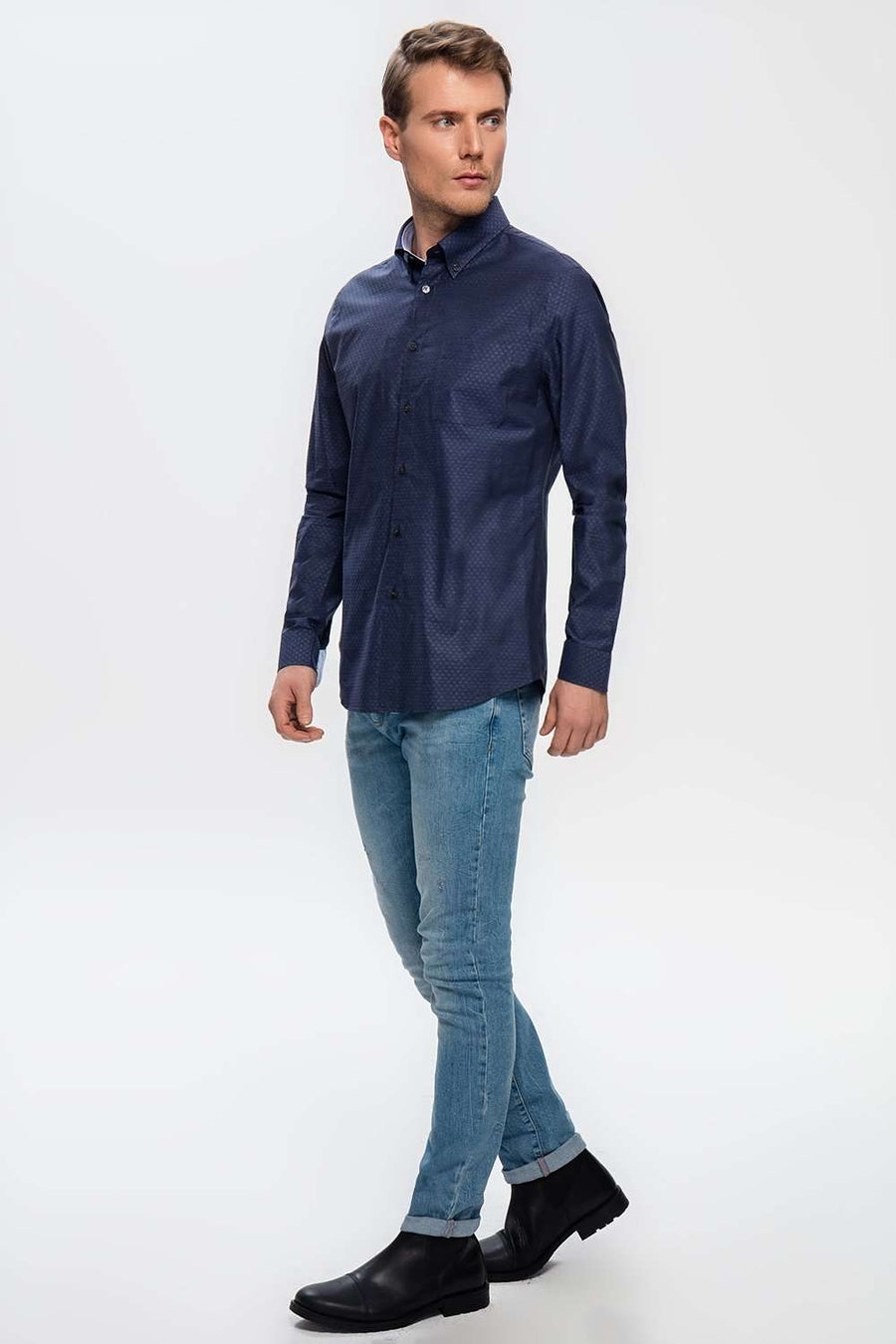 BRUSSELS DARK BLUE SHIRTe],Duacosta