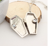 Home at Last Coffin Locket Necklace