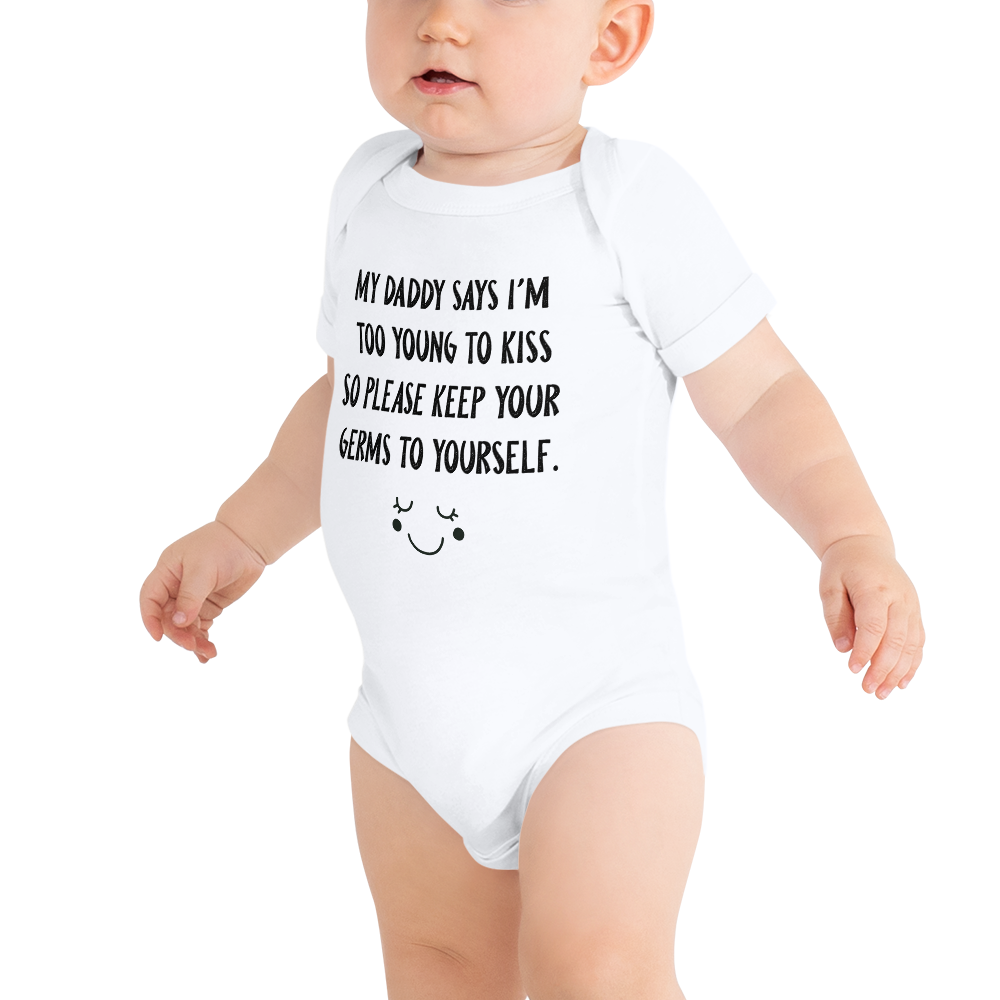 Too Young to Kiss - Baby Onesie