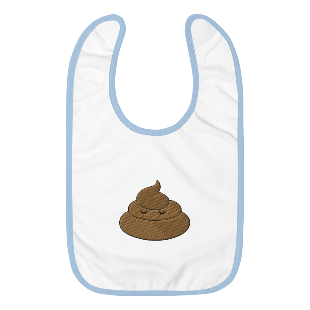POOPmoji - Embroidered Baby Bib