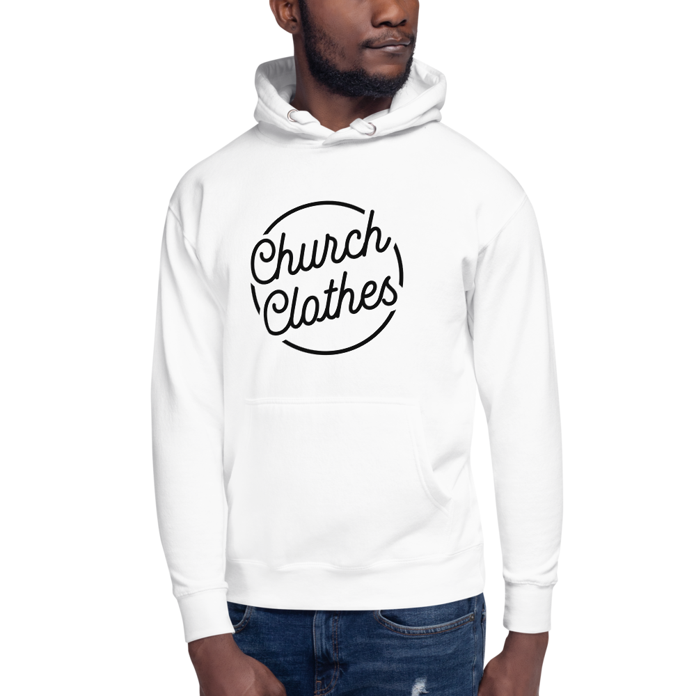Church Clothes - White Unisex Hoodie