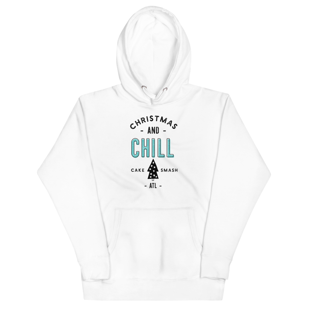 Christmas And Chill - White Unisex Hoodie