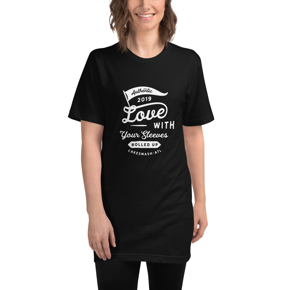 Love With Your Sleeves Rolled Up - Unisex Fine Jersey Tall T-Shirt