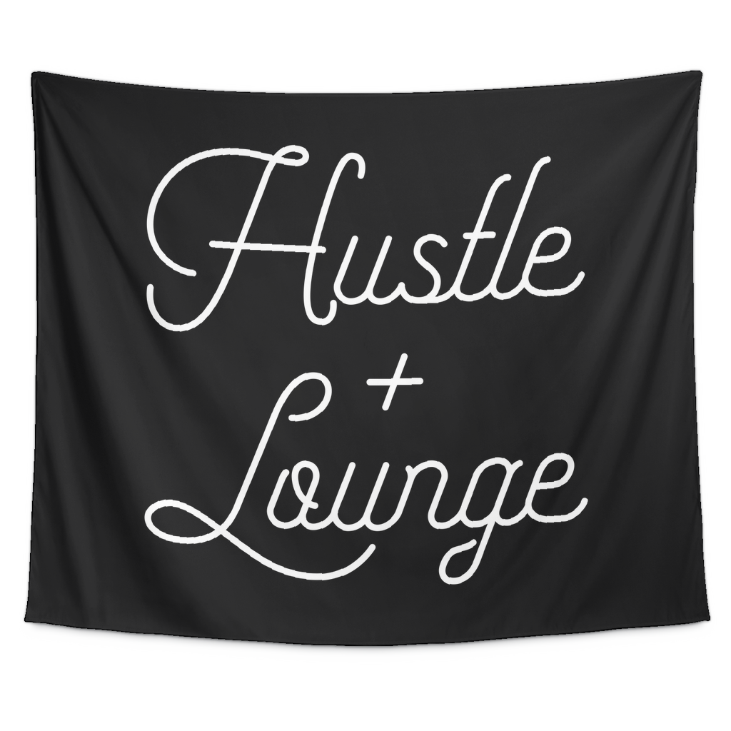 Hustle + Lounge - Black Wall Tapestry