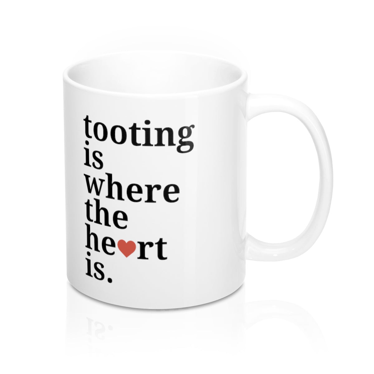 Tooting is Where The Heart Is Mug