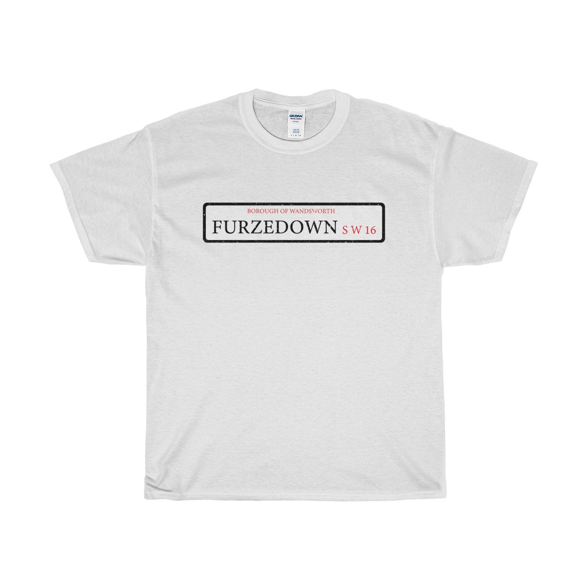 Furzedown Road Sign SW16 T-Shirt