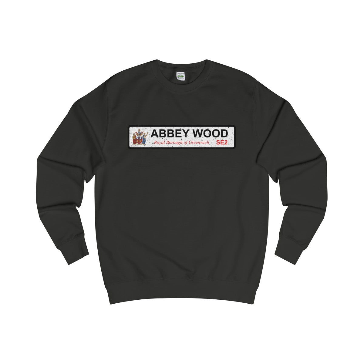 Abbey Wood Road SIgn SE2 Sweater