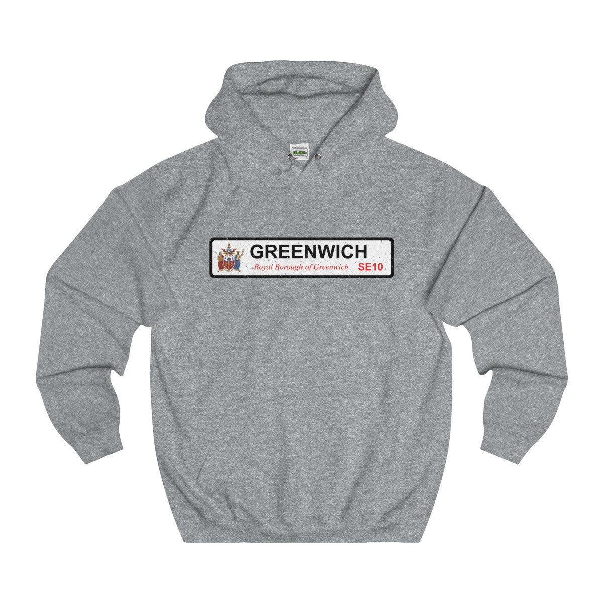 Greenwich Road Sign SE10 Hoodie