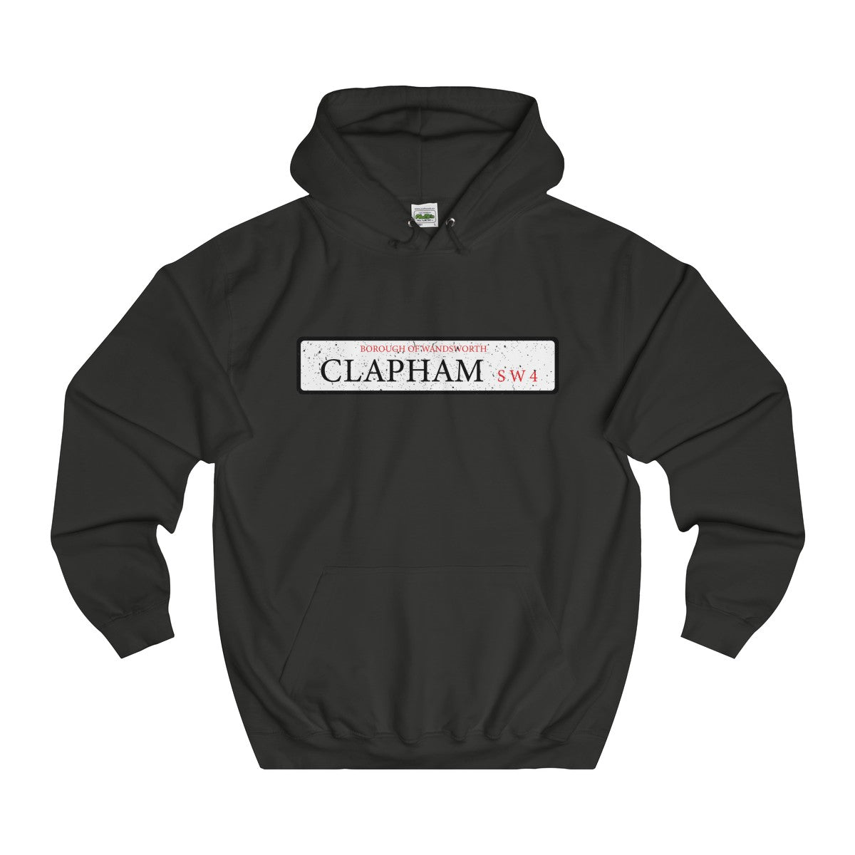 Clapham Road Sign SW4 Hoodie