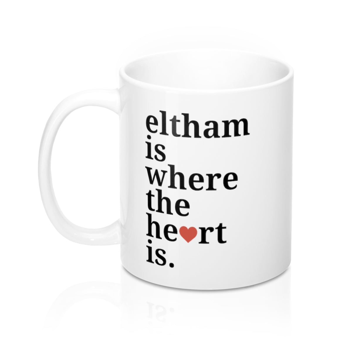 Eltham is Where The Heart Is Mug