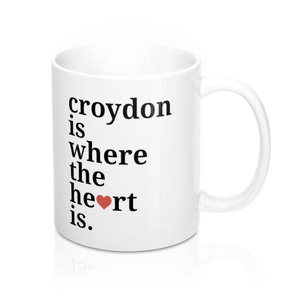 Croydon is Where The Heart Is Mug