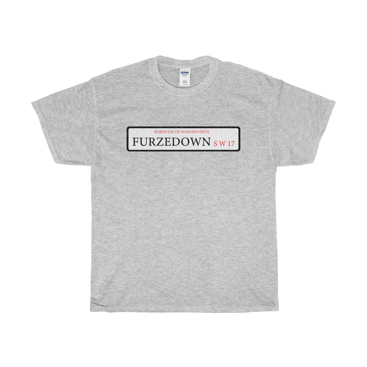 Furzedown Road Sign SW17 T-Shirt