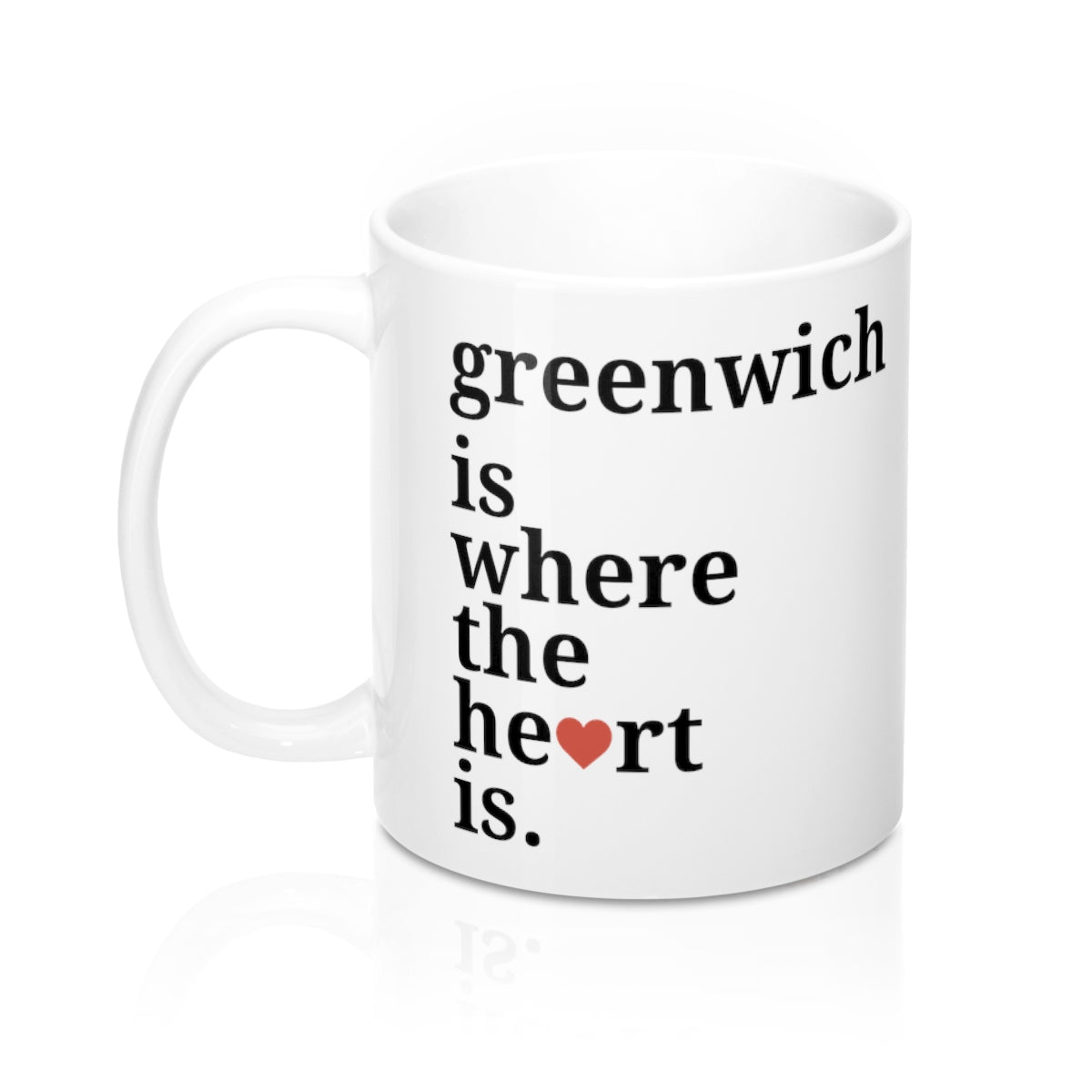 Greenwich is Where The Heart Is Mug