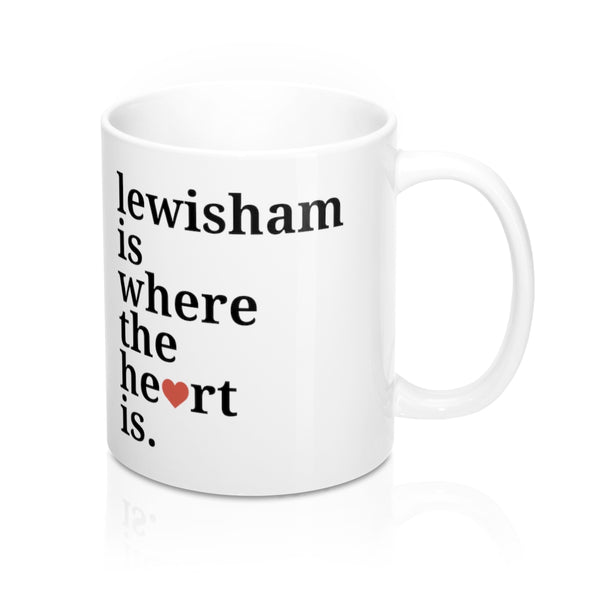 Lewisham is Where The Heart Is Mug