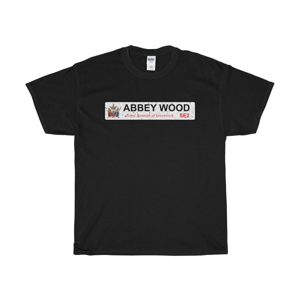 Abbey Wood Road Sign SE2 T-Shirt