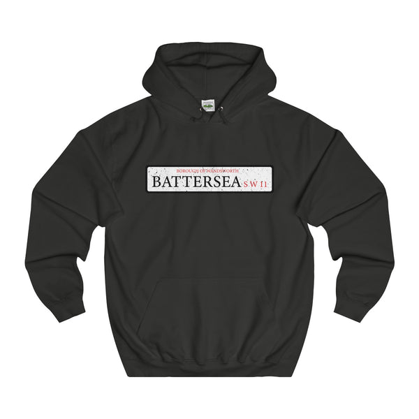 Battersea Road Sign SW11 Hoodie