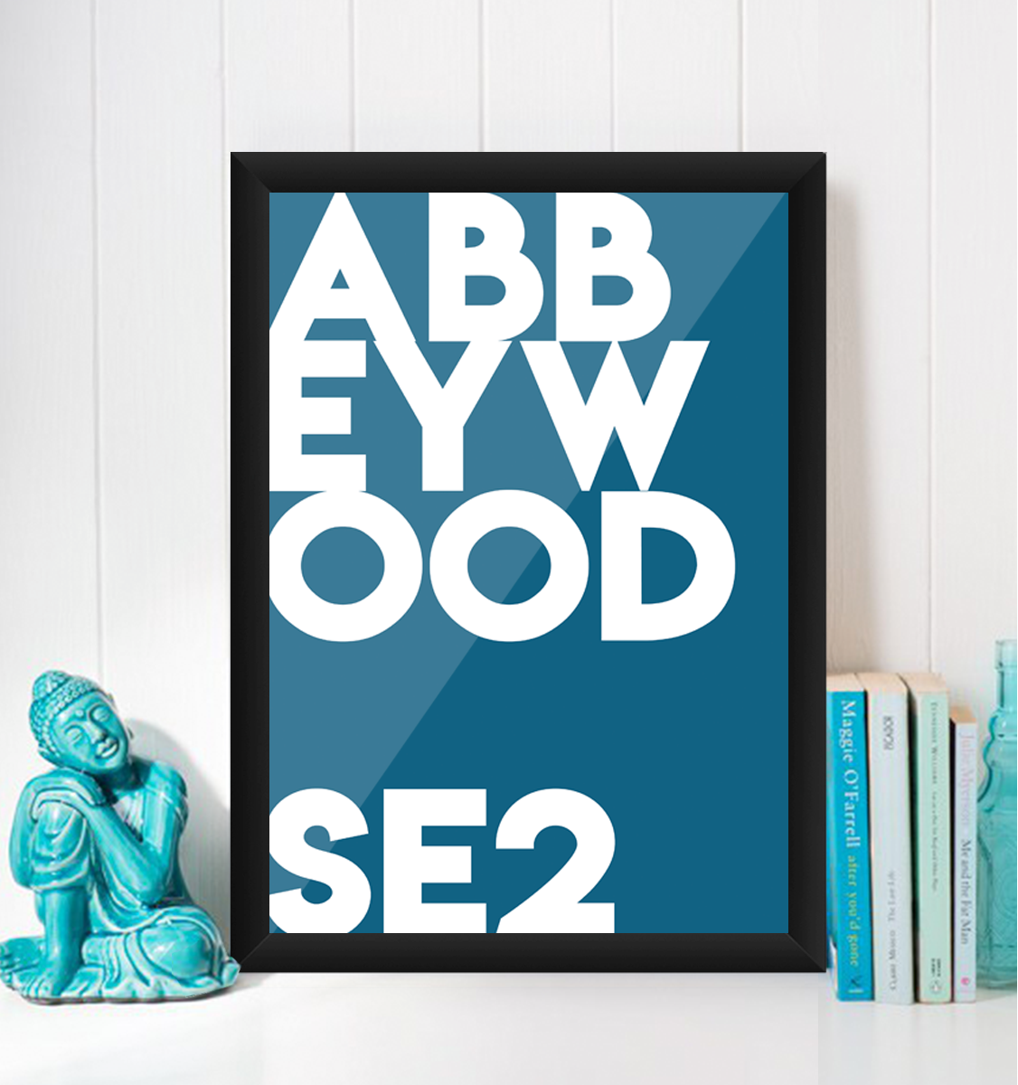 Abbey Wood Typography Giclée Art Print