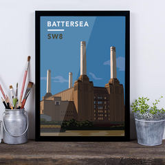 Battersea Power Station SW8 - Giclée Art Print