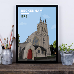 Beckenham St.George's Church BR3 - Giclée Art Print