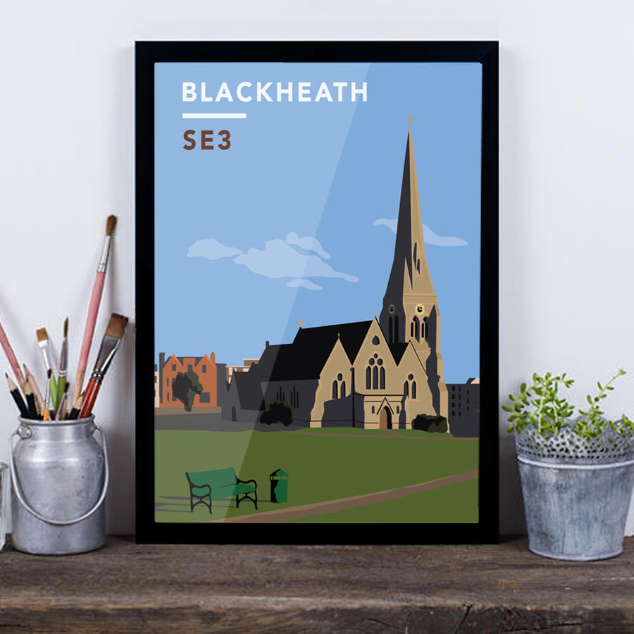 Blackheath All Saints Church SE3 - Giclée Art Print