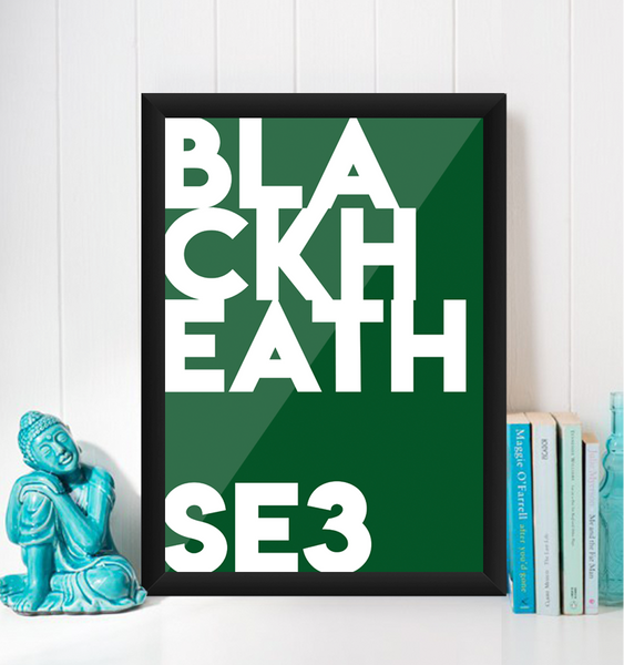 Blackheath Typography Giclée Art Print