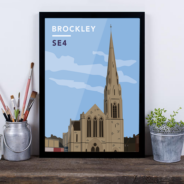 Brockley St. Andrew's Church SE4 - Giclée Art Print