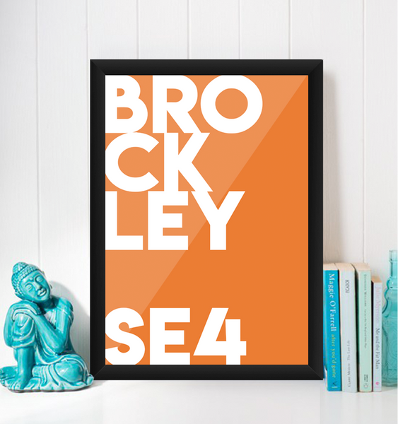 Brockley Typography Giclée Art Print
