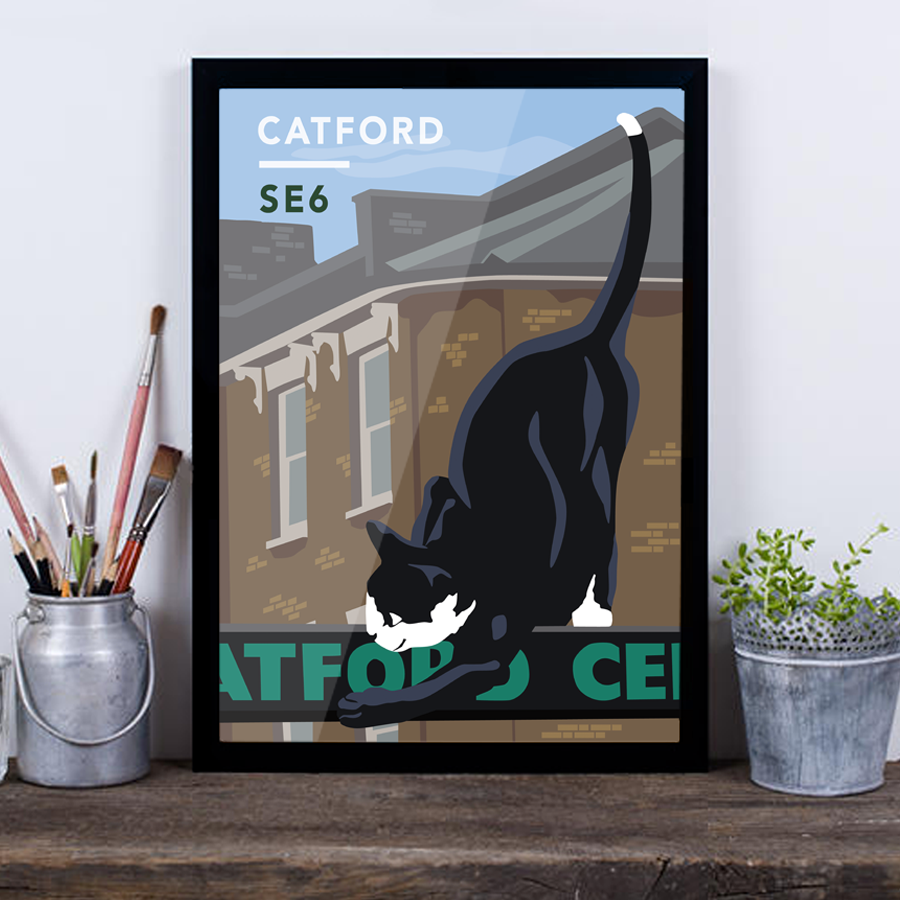 Catford Cat SE6 - Giclée Art Print