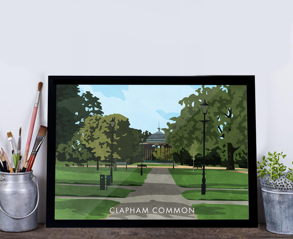 Clapham Common SW4 - Giclée Art Print