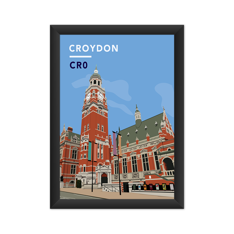 Croydon Clock Tower And Town Hall CR0 - Giclée Art Print