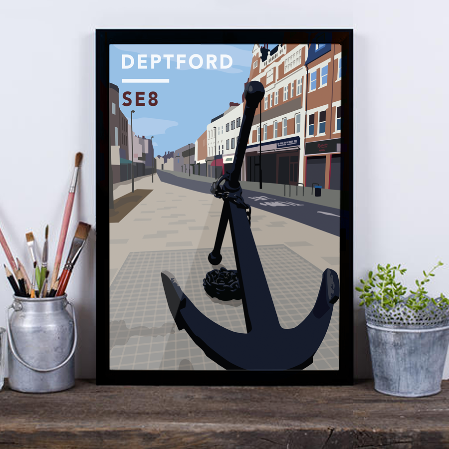 Deptford Anchor SE8 - Giclée Art Print
