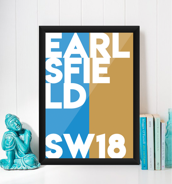 Earlsfield Typography Giclée Art Print
