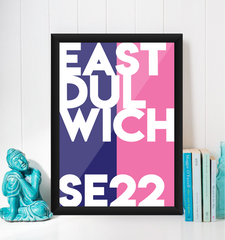 East Dulwich Typography Giclée Art Print