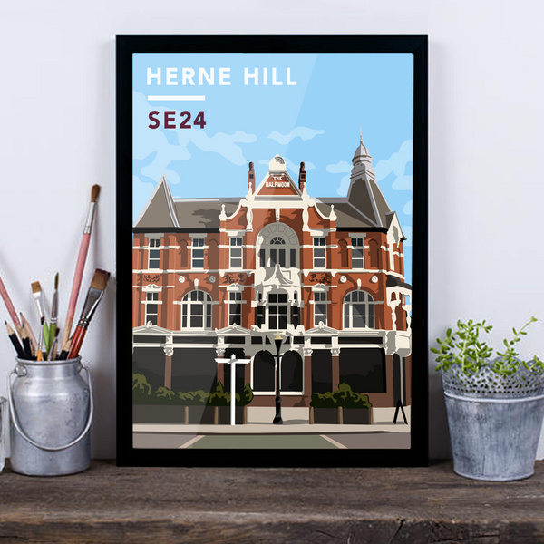 Herne Hill The Half Moon SE24 - Giclée Art Print