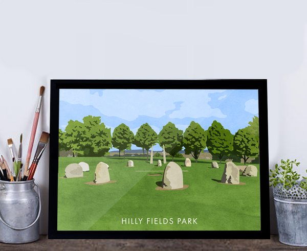 Hilly Fields Park - Giclée Art Print