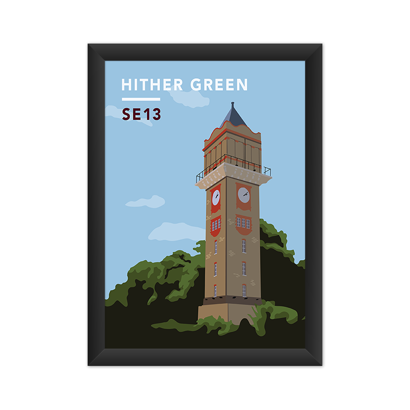 Hither Green Water Tower SE13 - Giclée Art Print