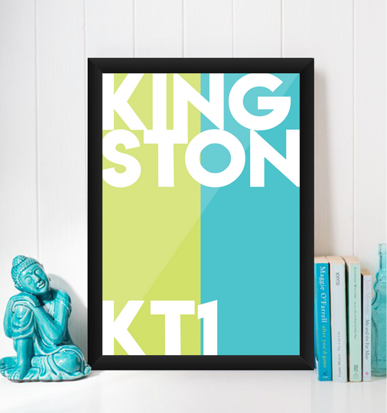 Kingston Typography Giclée Art Print