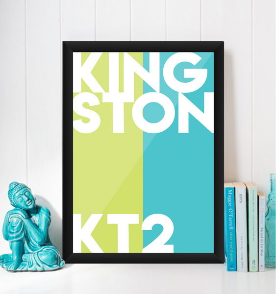 Kingston Typography KT2 Giclée Art Print