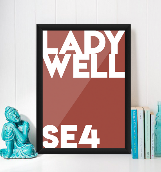 Ladywell Typography Giclée Art Print