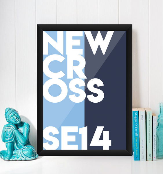 New Cross Typography Giclée Art Print