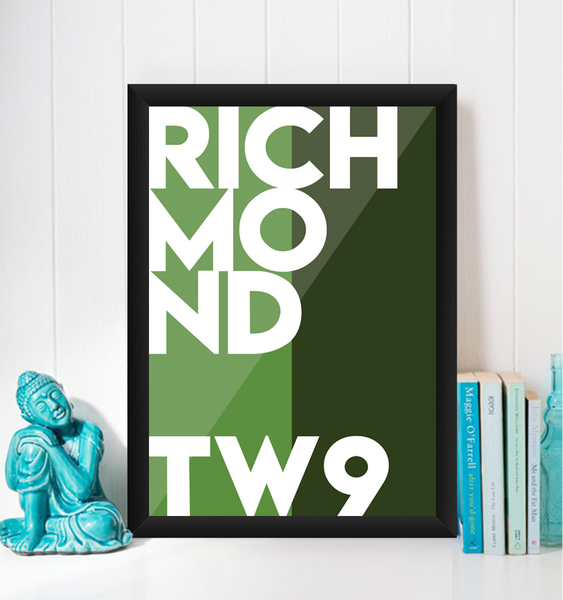 Richmond Typography Giclée Art Print