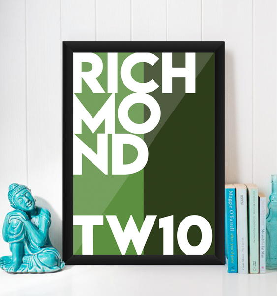 Richmond Typography Giclée Art Print - TW10