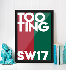 Tooting Typography Giclée Art Print