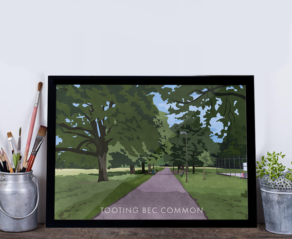 Tooting Bec Common - Giclée Art Print