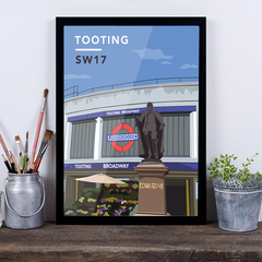 Tooting Underground Station SW17 - Giclée Art Print
