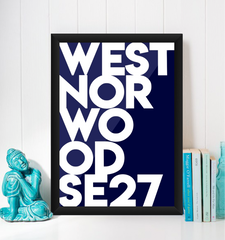 West Norwood Typography Giclée Art Print