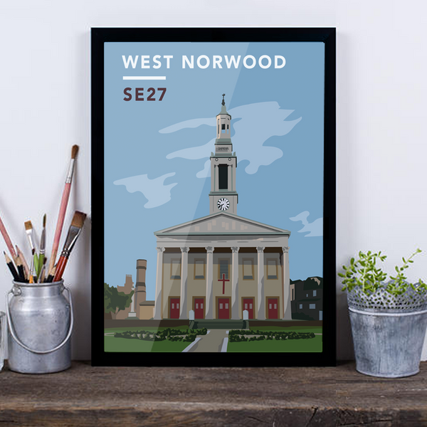 West Norwood St. Luke's Church SE27 - Giclée Art Print