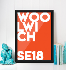 Woolwich Typography Giclée Art Print