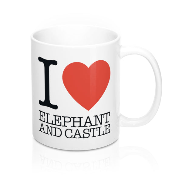 I Heart Elephant and Castle Mug