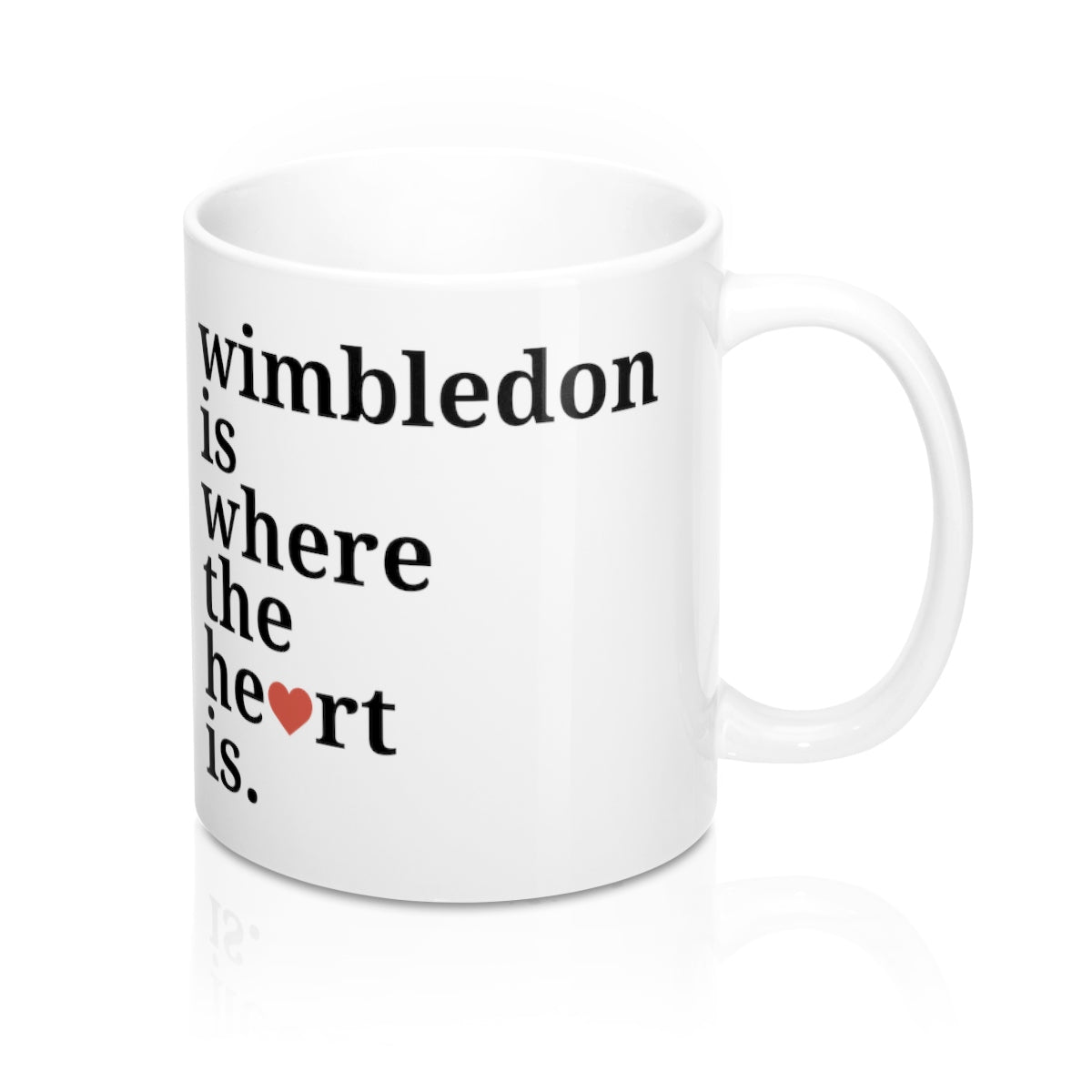 Wimbledon is Where The Heart Is Mug